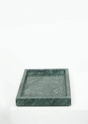 Empress Green Marble Large Rectangular Tray - Black Sheep (White Light)