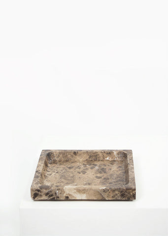 Dark Emperador Marble Square Tray - Black Sheep (White Light)