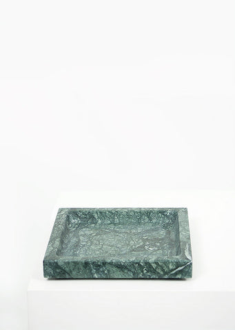 Empress Green Marble Square Tray - Black Sheep (White Light)