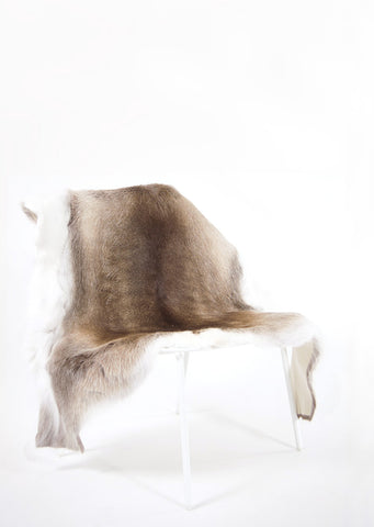Dark Sami Reindeer Hide - Black Sheep (White Light)
