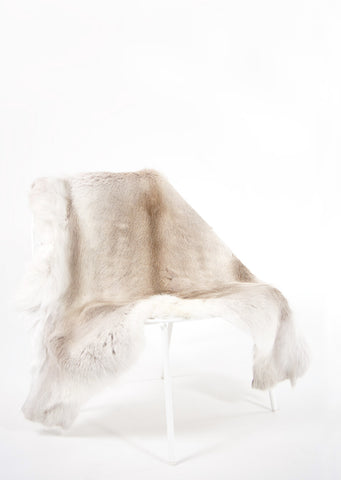 Light Sami Reindeer Hide - Black Sheep (White Light)