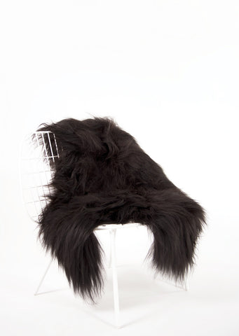 Black Icelandic Sheepskin - Black Sheep (White Light)