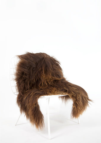 Brown Icelandic Sheepskin - Black Sheep (White Light)