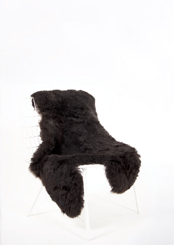 Shorn Black Icelandic Sheepskin - Black Sheep (White Light)