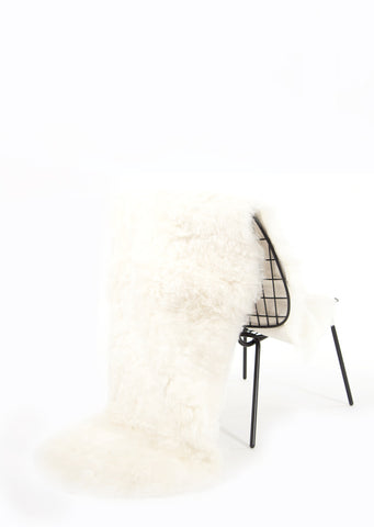 Shorn Double White Icelandic Sheepskin - Black Sheep (White Light)
