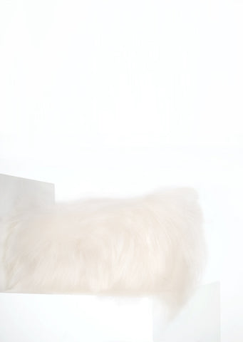 Rectangular White Icelandic Sheepskin Pillow Cover