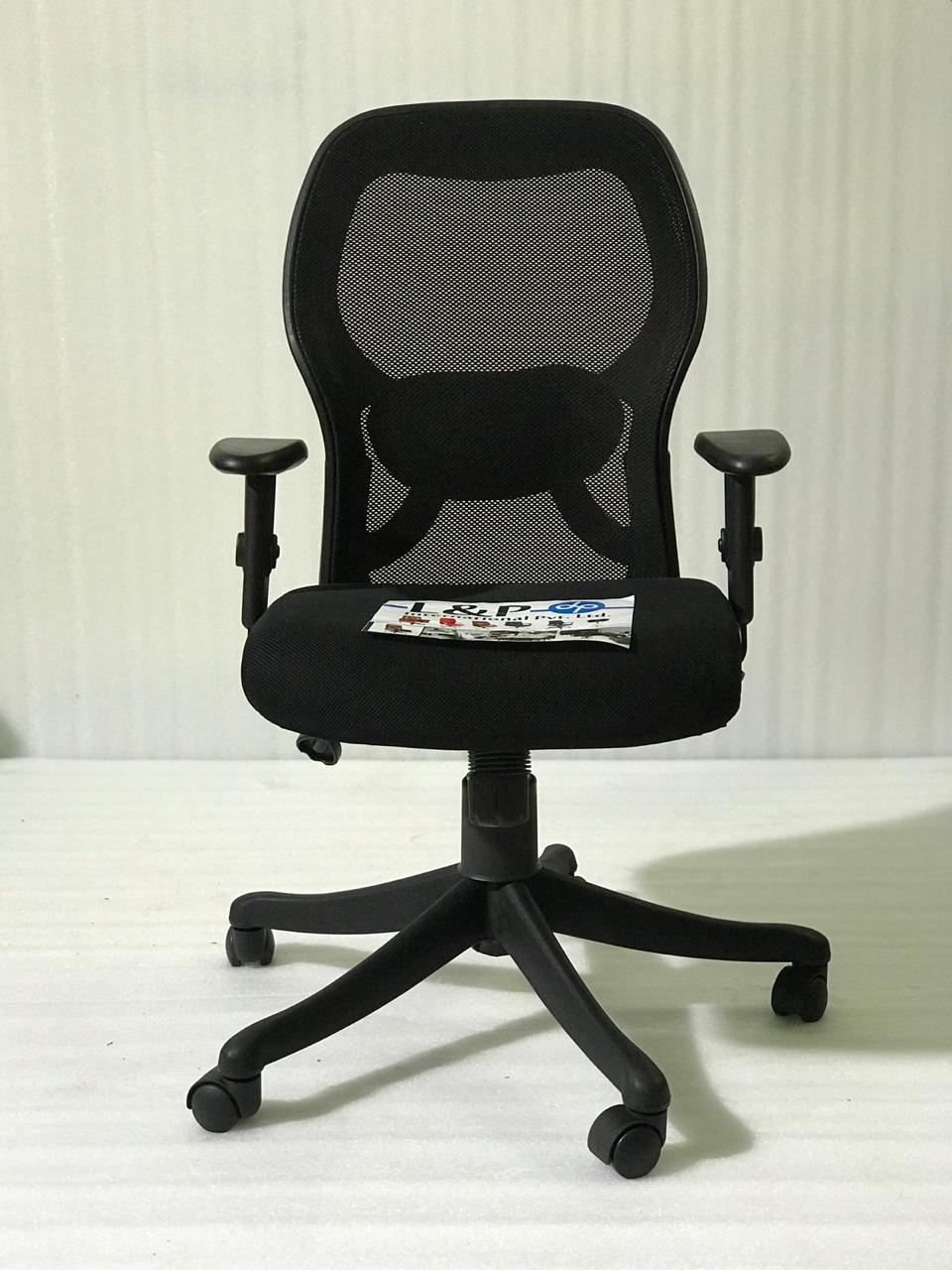 FC414- Matrix Medium Back Mesh Chair with Adjustable Armrest