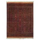 "5'5"" x 7'2""   Antique Silk on Wool Herati Design Rug Top View"