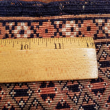 "5'5"" x 7'2""   Antique Silk on Wool Herati Design Rug Angle View"