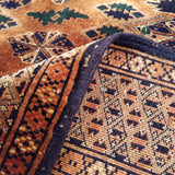 "5'5"" x 7'2""   Antique Silk on Wool Herati Design Rug Back View"