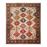 "8'3"" x 9'10""   Tabriz Rug Top View"