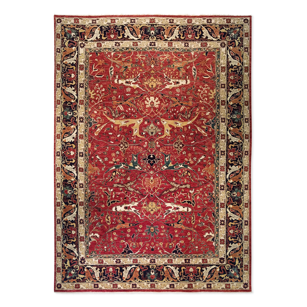"9'10"" x 13'9""   Serapi Rug Top View"