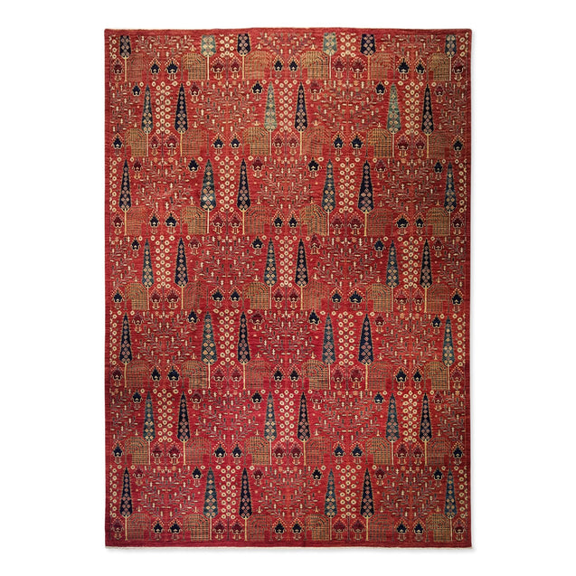 "9'8"" x 13'9""   Bidjar Rug Top View"