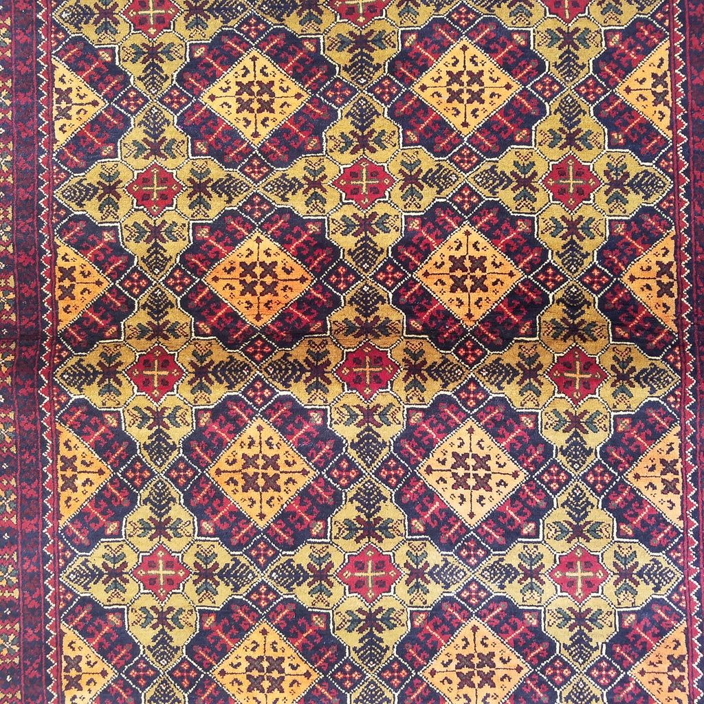 "5'0"" x 6'9""   Kunduz Rug Back View"