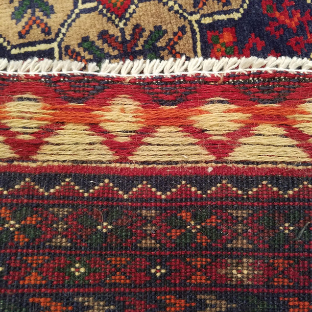 "4'11"" x 6'8""   Kunduz Rug Back View"