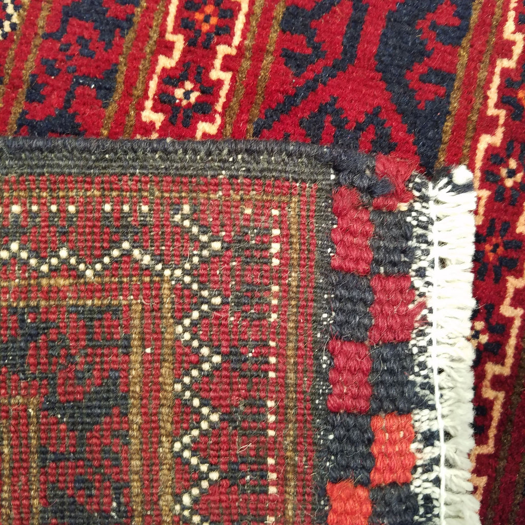 "3'0"" x 12'8""   Kunduz Runner Rug Back View"