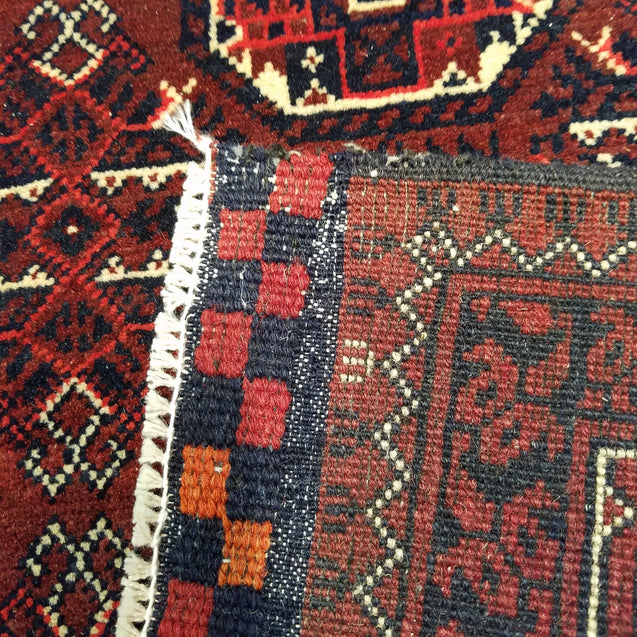 "2'10"" x 9'4""   Kunduz Runner Rug Back View"