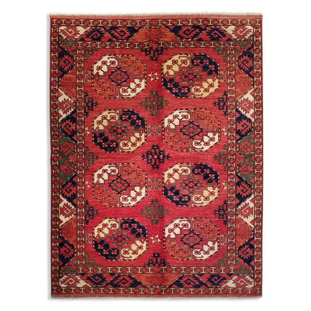 "5'8"" x 7'6""   Ersari Turkmen Design Rug Top View"