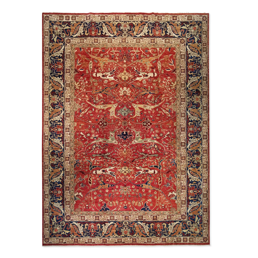 "9'11"" x 13'9""   Serapi Rug Top View"