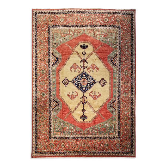 "9'0"" x 11'9""   Serapi Rug Top View"
