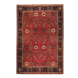 "8'10"" x 12'1""   Tabriz Rug Top View"