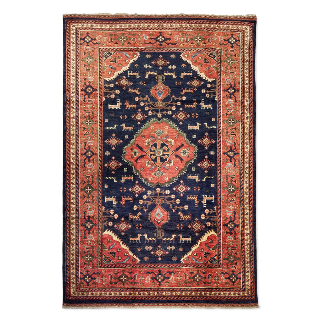 "6'8"" x 10'0""   Gabbeh Rug Top View"