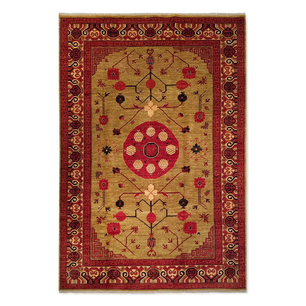 "6'5"" x 9'6""   Ghotan Rug Top View"