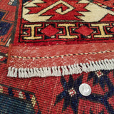"6'8"" x 10'3""   Ersari Turkmen Design Rug Back View"