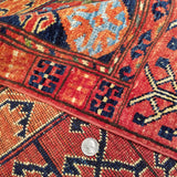 "4'0"" x 5'10""   Hajli Rug Back View"