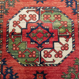 "2'9"" x 9'11""   Ersari Turkmen Design Runner Rug Angle View"