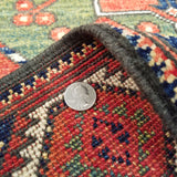 "2'9"" x 9'11""   Ersari Turkmen Design Runner Rug Back View"