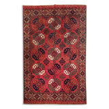 "6'7"" x 10'2""   Ersari Turkmen Design Rug Top View"