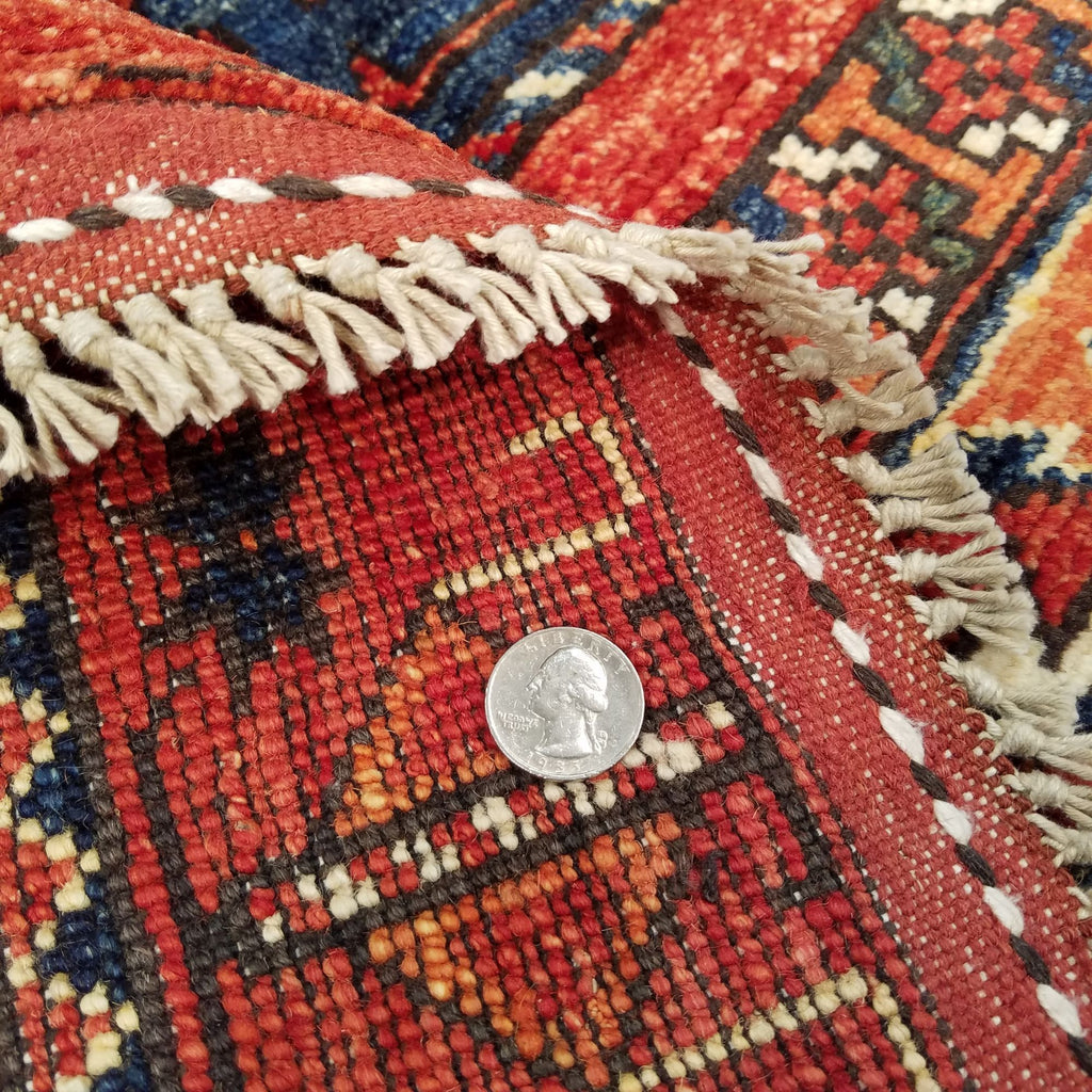 "6'6"" x 9'8""   Ersari Turkmen Design Rug Back View"