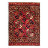 "5'7"" x 7'8""   Ersari Turkmen Design Rug Top View"