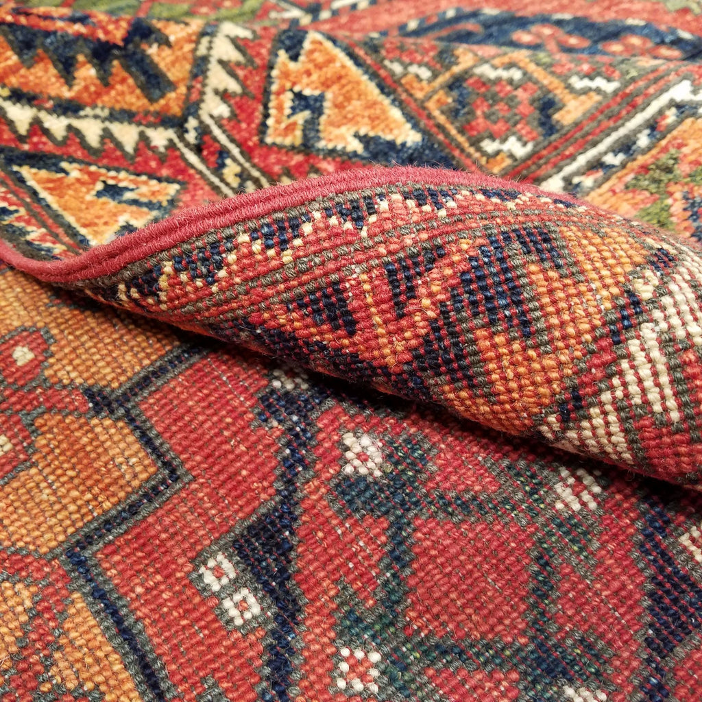 "5'7"" x 7'8""   Ersari Turkmen Design Rug Back View"