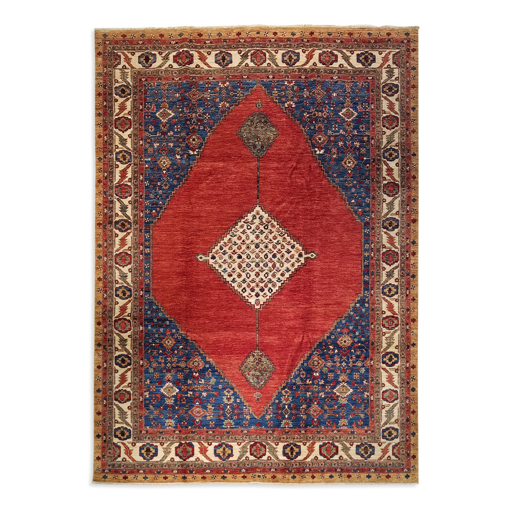 "8'11"" x 11'10""   Bidjar Rug Top View"