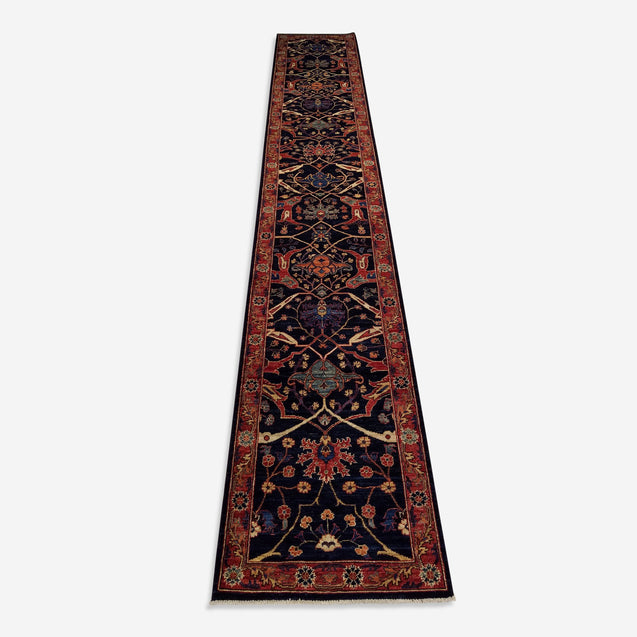 "2'7"" x 15'6""   Bidjar Runner Rug Top View"