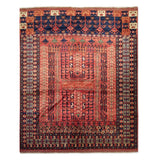 "5'5"" x 6'7""   Hajli Rug Top View"