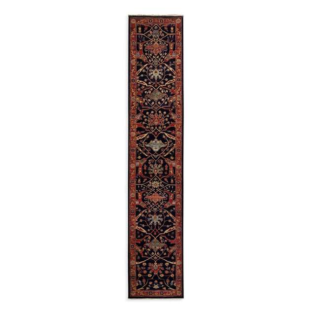 "2'7"" x 13'2""   Serapi Runner Rug Top View"