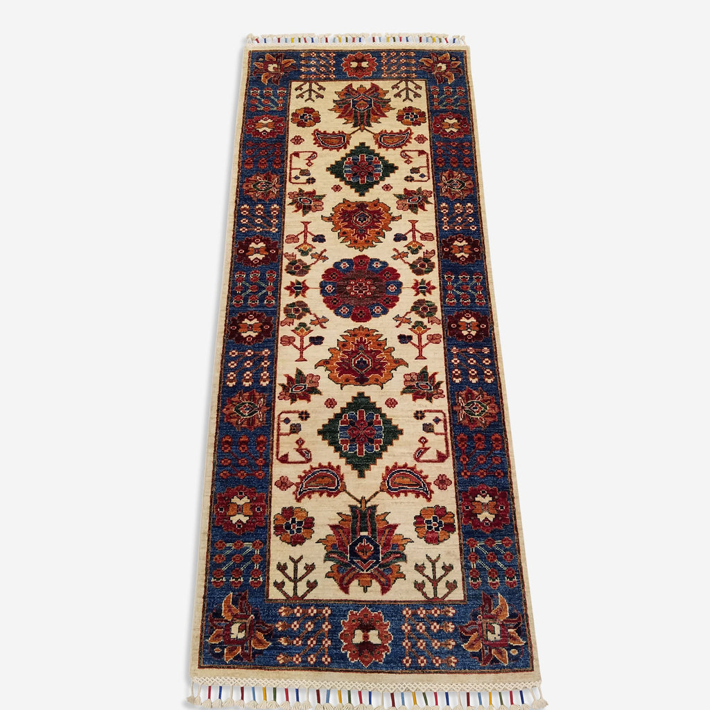 "2'6"" x 6'4""   Gabbeh Runner Rug Top View"