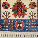 "2'6"" x 6'4""   Gabbeh Runner Rug Angle View"