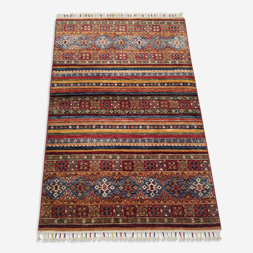 "3'4"" x 5'2""   Khorjin Rug Top View"
