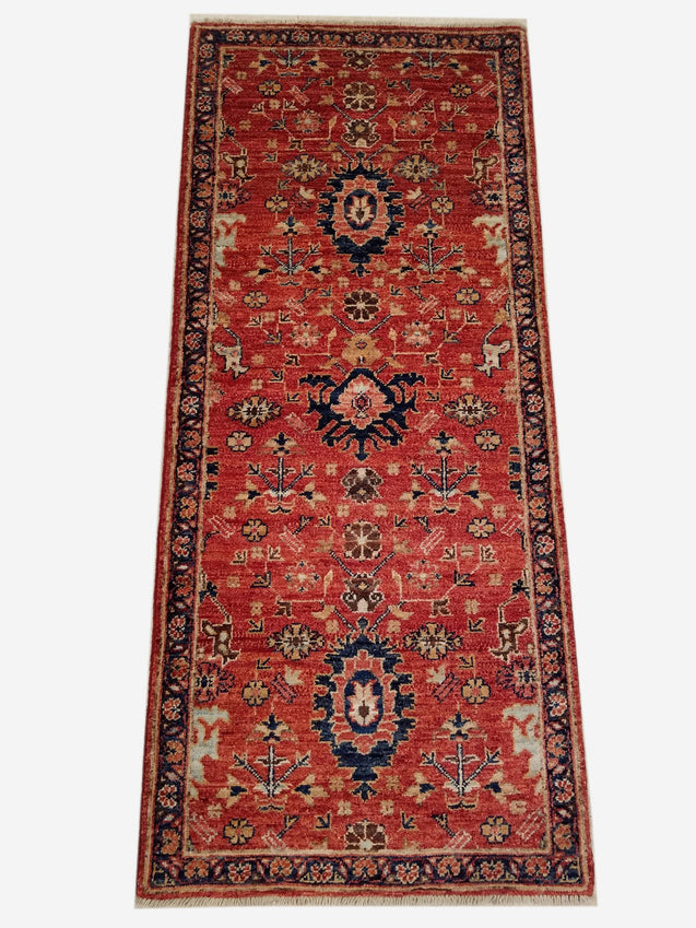 "2'1"" x 4'10""   Serapi Rug Top View"