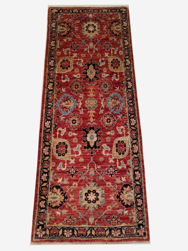 "2'0"" x 5'3""   Bidjar Runner Rug Top View"