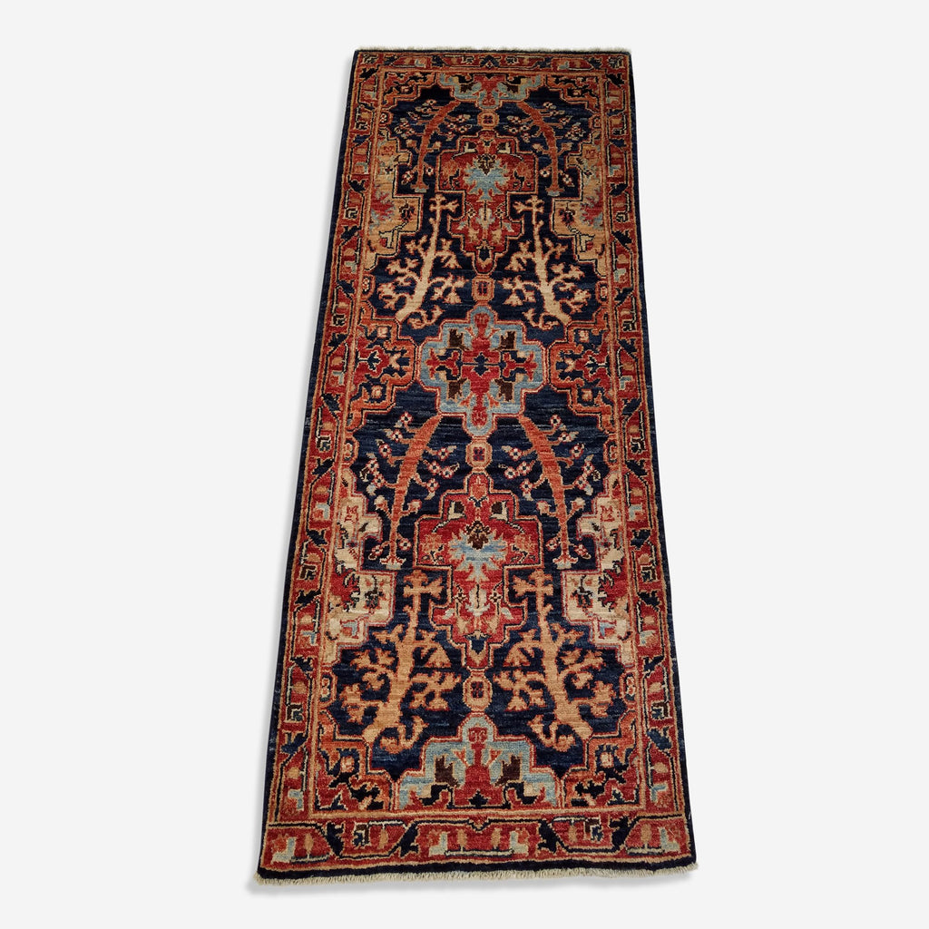 "1'11"" x 5'0""   Bidjar Runner Rug Top View"