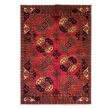 "5'8"" x 7'10""   Ersari Turkmen Design Rug Top View"