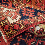 "5'8"" x 7'10""   Ersari Turkmen Design Rug Back View"