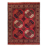"5'1"" x 6'8""   Ersari Turkmen Design Rug Top View"