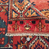 "5'1"" x 6'8""   Ersari Turkmen Design Rug Back View"