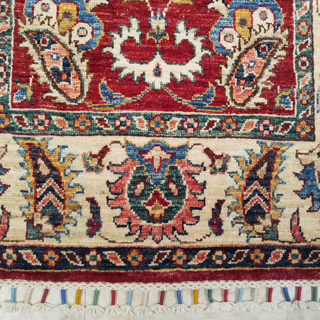 "2'9"" x 10'11""   Gabbeh Runner Rug Back View"